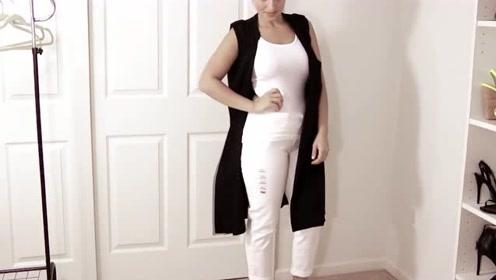 女性时装穿搭:背心、牛仔裤