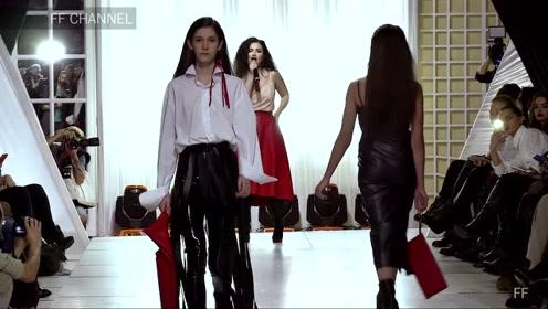 时装周上的Alina Kravetc模特,走出一场有点尬的时装秀