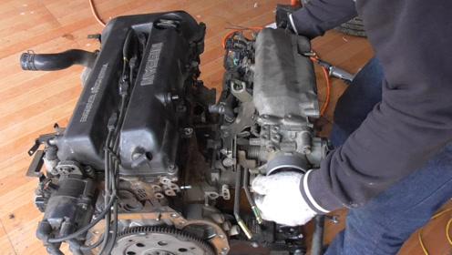 解体发动机,看看发动机上水管和进气歧管的结构原理