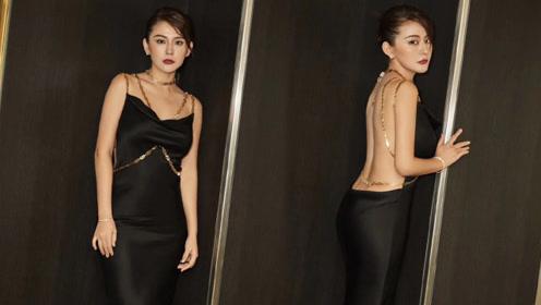 热依扎黑色露背礼服现身电影节,大胆穿衣风格再引网友热议