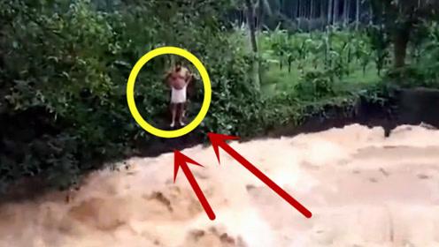 丈夫和儿女都被洪水吞噬,5秒后纵身一跃,让人心疼!