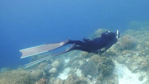 """被称为""""水下钢铁侠""""的潜水服,搭配可充电的推进器,水下可完全自由"""