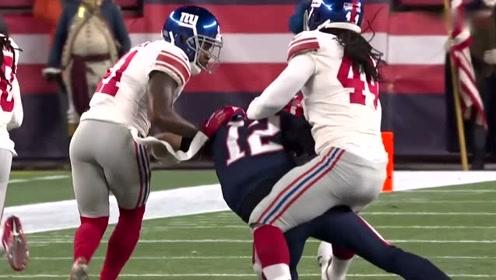 NFL常规赛:爱国者队布雷迪失误传球,送出对方全场比赛最远距离推进!