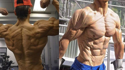 """行走的""""木乃伊""""!21岁肌肉野兽体脂率低至4%,浑身肌肉拉丝!"""