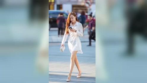 重庆的夏天已过去,看看秋季的重庆街拍美女吧