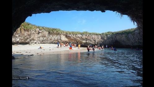 世界上最神秘的岛屿,只有潜水才能进去,越看越神秘