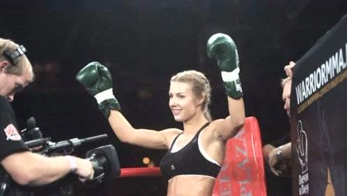 白俄罗斯最漂亮的女拳手,打败她才可以得到她,如今已找到真爱!