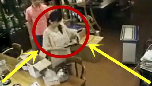 可怕!美女正在沏茶,突遭猥琐男拿针刺入身体,监控拍下绝望全程!