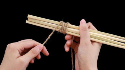 旧筷子不要扔,简单绑一绑,放在厨房里作用大,省钱又实用
