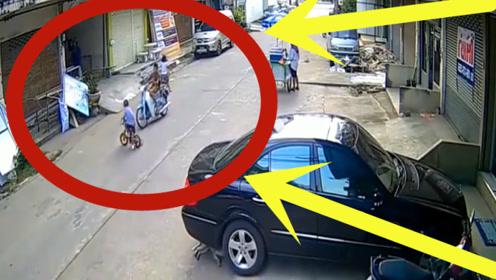 太可怜!小孩街道惨遭电车撞到,肇事者的举动太让人心寒!