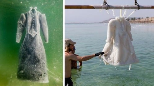 设计师把礼服放进死海,浸泡2年取出后太惊艳,定价150万谁会买?