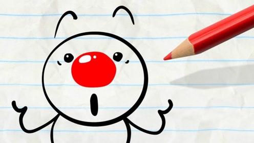 铅笔人变身小丑,不料把熊孩子给惹哭了?网友:太坏了!