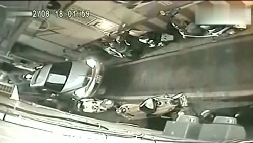 厉害的女司机,要不是监控,都不知道发生了什么