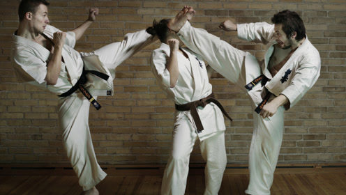 堪比电影场面的搏击比赛,极限空手道搏击精彩的时刻!