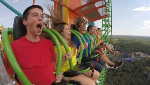 世界上最高的跳楼机,落差整整126米,胆小的人看着就怕了