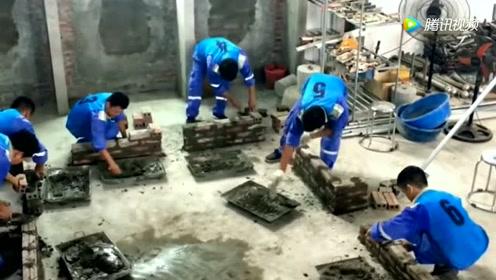 民工办的泥瓦工培训班,每人要交五千元学费,大学生都来报名