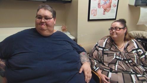 """这是一对特殊情侣,他们""""因胖结缘"""",体重加起来超过1000斤!"""