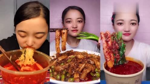 小姐姐是真能吃辣啊,那种超辣的辣椒抓起来就开吃