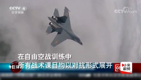 第一视角!拉升、俯冲、咬尾,歼-11B高强度自由空战