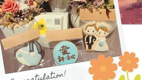林志玲婚宴甜食首曝光,新郎新娘卡通形象很甜蜜,嫁给爱情的样子真美