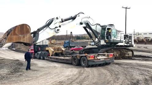 重建120吨利勃海尔984挖掘机而运输-Fasoulas重型运输车
