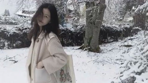 王菲女儿李嫣晒雪景美照还配诗 雪地里高冷的模样像极了妈妈