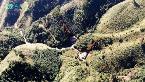 无人机巡视广西深山,发现这样2户人家,越靠近越发觉他们不一般