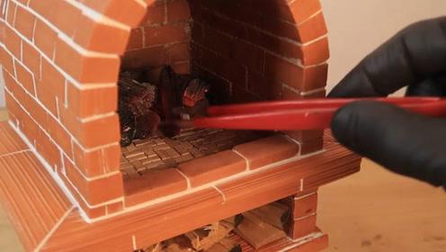 男子自制烤比萨工具送女友,再也不用等外卖了,爱她就填满她的胃