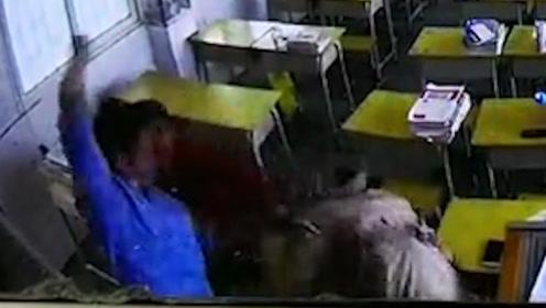 男子突然冲进教室殴打女教师头部多达13次 两人素不相识:已立案调查