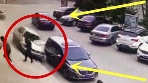 夫妻俩刚停好车,不料死神突然降临,监控拍下绝望1秒!