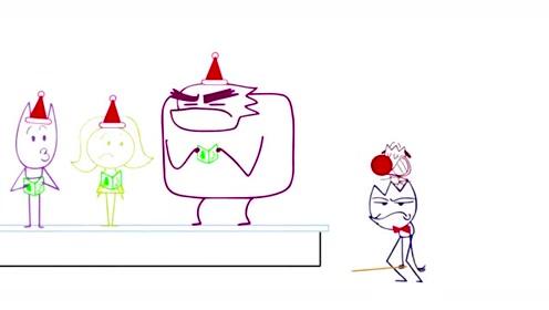 创意动漫搞笑铅笔动画,刺头铅笔人当指挥家的时光