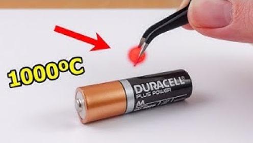 1000度的铁球放在电池上会爆炸吗?牛人亲测,看完眼界大开