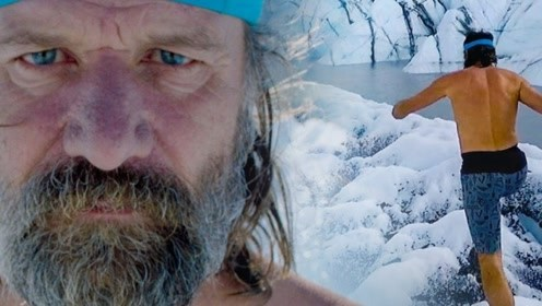 外国老爷爷丝毫不怕冷?光着膀子在冰上活动,网友:身体吃得消吗