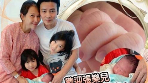 蔡少芬三胎儿子重7斤,张晋亲手剪下脐带体贴入微