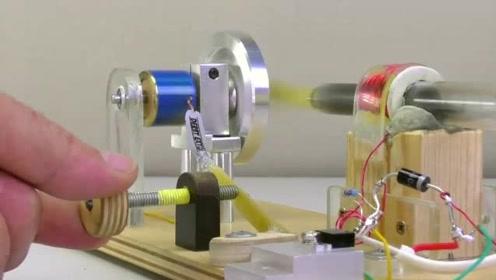 这是我见过最强的电磁马达,纯手工自制,原理一下子看懂了