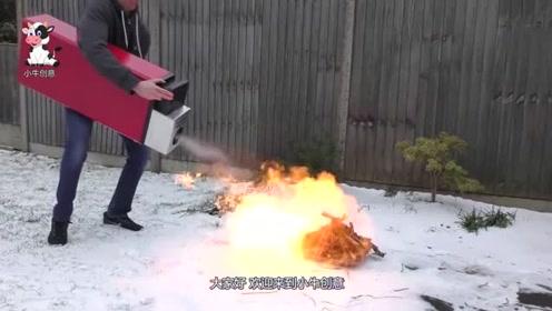 非常大的打火机见过吗点火的瞬间,场面失控了