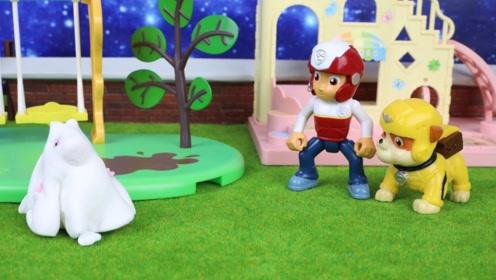 森林里意外出现白色幽灵,莱德和小砾化身侦探,去森林里破案!