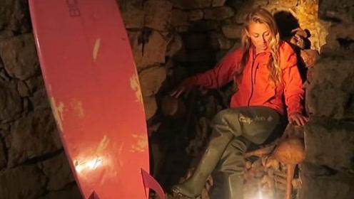 心惊胆战!美国女子勇闯巴黎地下墓穴,网友一看环境直呼:小心脏都不好了!