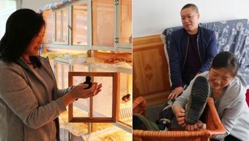老公瘫痪婆婆失明,75后女子撑起一个家,养鸡供三个孩子读书