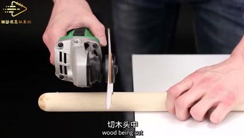 白纸有你想不到的威力,木棍都能切断