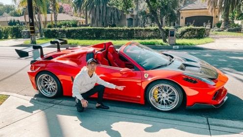 签收全美第一台整车喷漆LB宽体法拉利458
