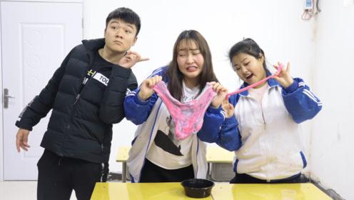 柚柚考试12分,老师奖励她一大碗无硼砂泥,结果她却不满意