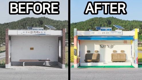 牛人脑洞大开,用3D打印笔维修旧公交站台,网友:成品身价翻了倍