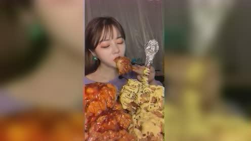 美食吃播:甜辣炸鸡