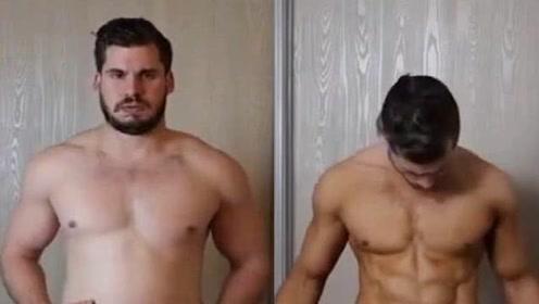 12周把啤酒肚练成腹肌可能吗?小伙挑战成功, 简直太励志了!