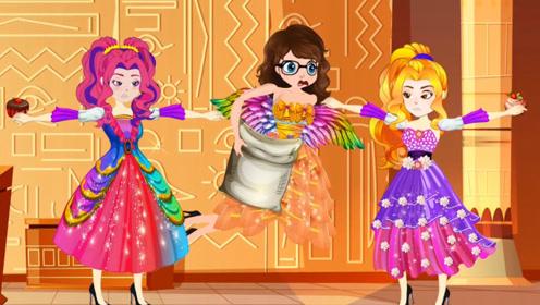 天使为帮助小女孩,拿走了公主的食物,两人得知后选择了支持!