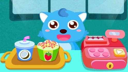小狼宝贝准备去电影院看电影,购买好爆米花,有趣的一幕发生了!