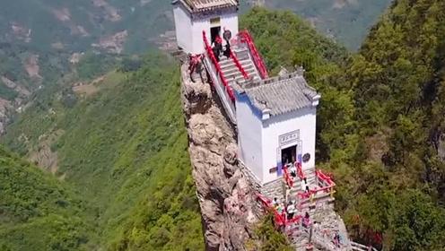 中国最危险的房子,建在1600多米的悬崖上,现已伫立500多年!