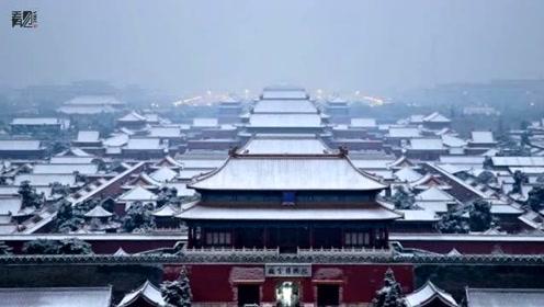 """初雪后的北京美翻了 游客景山公园""""扎堆""""赏雪"""