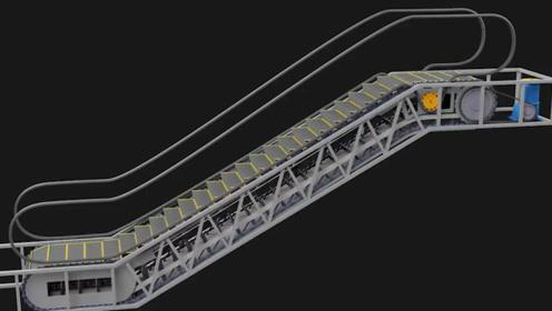 自动扶梯的构造和原理是怎样的?3D演示工作全过程,看完涨知识了